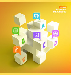 3d cubes and business pointers background vector