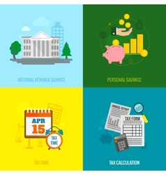 Tax flat set vector