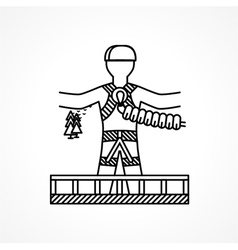 Abstract icon for extreme sport Rope jumper vector image