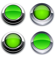 Green 3d buttons vector