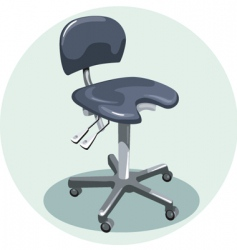 Medical chair vector