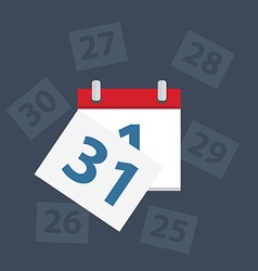 Calendar apps icon last day of the month vector