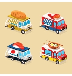 Food truck designs collection of vector