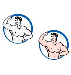 Powerful bodybuilder vector