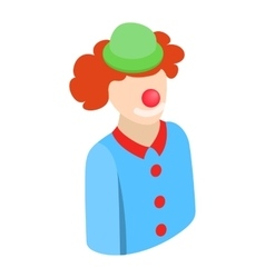 Clown character isometric 3d icon vector image
