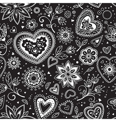 Love hearts seamless pattern 3 vector