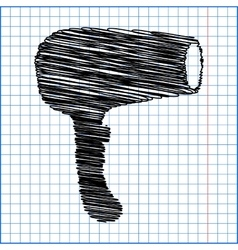 Hair dryer hairdresser vector