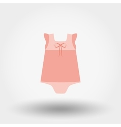 Baby dress rompers icon vector