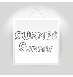 Hand drawn summer font vector