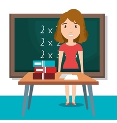 Teacher classroom design vector