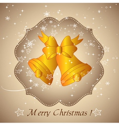 Background with Christmas bells vector image