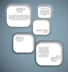 Banner speech bubble vector image vector image
