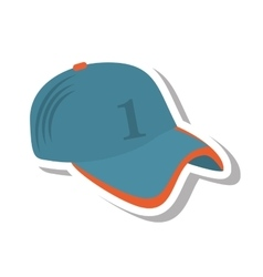 Baseball cap uniform isolated icon vector