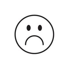 cartoon face sad negative people emotion icon vector image