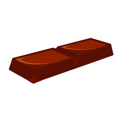Chocolate bar isolated vector