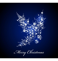 Christmas card Blue Holly vector image vector image
