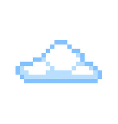 cloud pixel art cartoon retro game style vector image