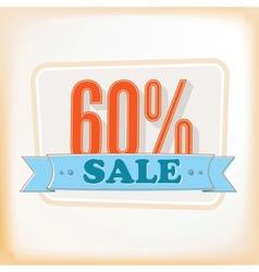 Discount labels 60 vector image