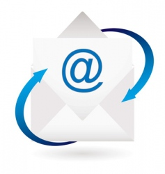 email arrow envelope vector image vector image