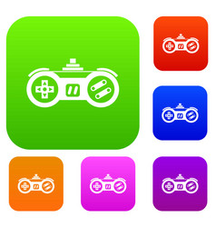Gamepad set collection vector