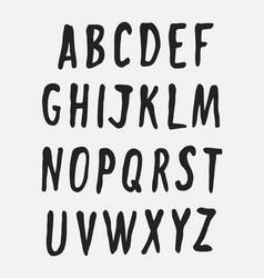 Handwritten alphabet uppercase letters vector