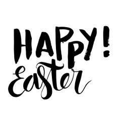 Happy easter vintage grunge lettering vector
