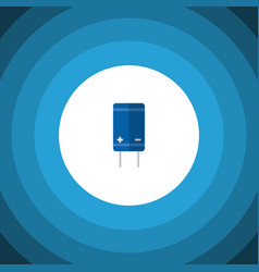 Isolated receiver flat icon transistor vector