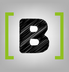 Letter b sign design template element vector