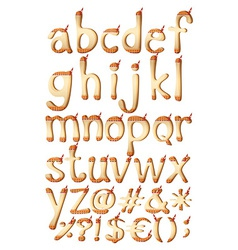 Letters of the alphabet with indian artwork vector