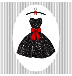 Little black dress on a hanger vector image vector image