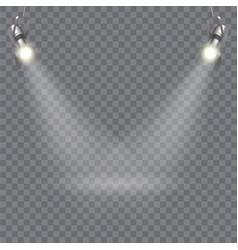 Modern floodlight design vector