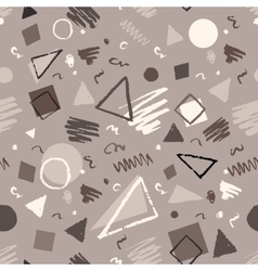 Monochrome vintage geometric pattern vector