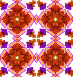 Orange festive christmas star seamless vector image