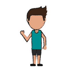 person cartoon clothing vector image
