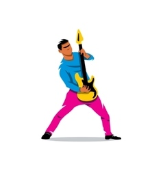 Rock Guitarist Cartoon vector image vector image