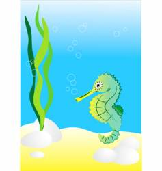 seahorse illustration generated on co vector image vector image