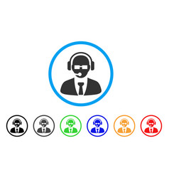 support manager rounded icon vector image vector image