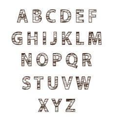 Textured tree font vector