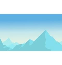 Vetcor flat of blue mountain vector image