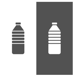 Water bottle icon on black and white background vector