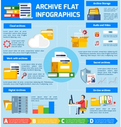 Archive infographic set vector