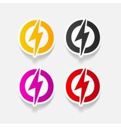Realistic design element lightning bolt vector