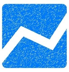Analytics chart grainy texture icon vector