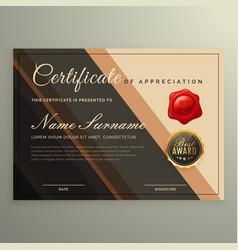 Creative certificate design diploma vector