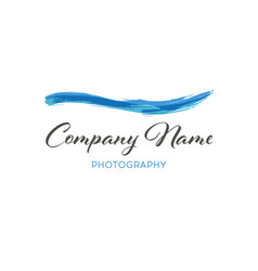 water wave brush logo template grunge wave logo vector image