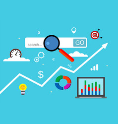 Concept of marketing research vector