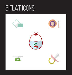 Flat icon kid set of children scales nipple vector