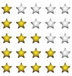 Five stars ratings vector image
