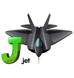 A letter J for jet vector image