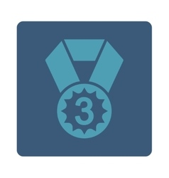 Third place icon from award buttons overcolor set vector